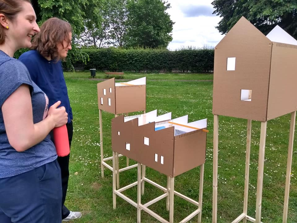 Housing models on display